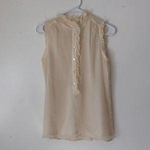 J. Crew Silk blouse size 0
